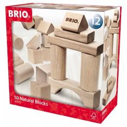 BRIO 30113 Klocki drewniane - 50 elementów
