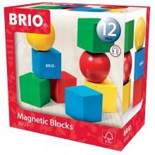 BRIO 30123 Drewniane klocki magnetyczne - 8 elementów