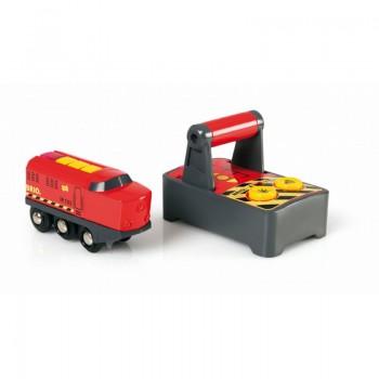 BRIO Lokomotywa na Baterię Czerwona Zdalnie Sterowana 33213