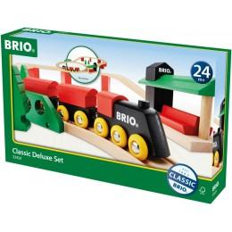 BRIO 33424 Zestaw z kolejką drewnianą Deluxe