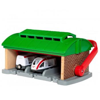 BRIO Garaż dla pociągów z rączka + kolejka - 33474