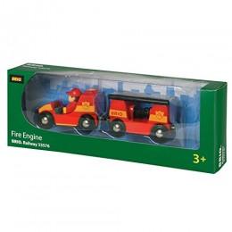 BRIO Kolejka drewniana Straż Pożarna z dźwiękiem 33576