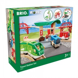 BRIO 33627 Kolejka drewniana - Zestaw podróżniczy