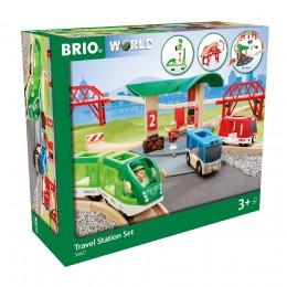 BRIO Kolejka drewniana Zestaw podróżniczy 33627