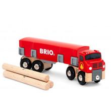 BRIO Ciężarówka do przewozu drewna - 33657