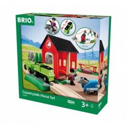 BRIO 33790 - Wiejski zestaw z koniem - Kolejka Drewniana