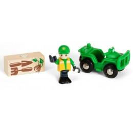 BRIO 33798 Pojazd rolniczy z ładunkiem