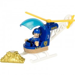 BRIO 33828 Dodatek do kolejki drewnianej - Policyjny helikopter