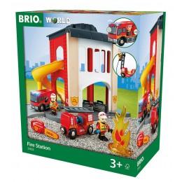 BRIO 33833 - Kolejka drewniana - Remiza strażacka