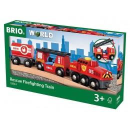BRIO 33844 Kolejka drewniana - Pociąg straży pożarnej