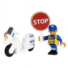 BRIO Policyjny motocykl Dodatek do kolejki 33861