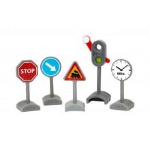 BRIO 33864 Zestaw znaków drogowych i semafor