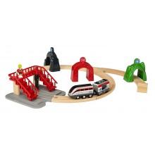 BRIO 33873 Zestaw z lokomotywą i tunelami akcji SmartTech™