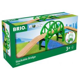 BRIO 33885 Most - Dodatek do kolejki drewnianej