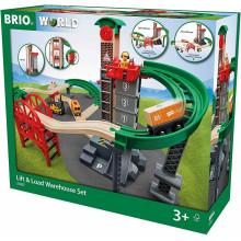 BRIO 33887 Wielki magazyn towarowy z windą
