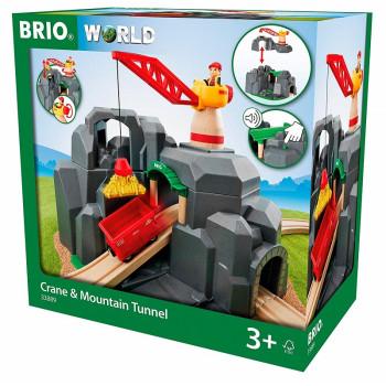 BRIO 33889 Górski tunel z dźwigiem