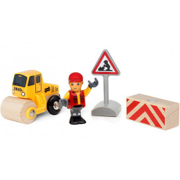 BRIO 33899 Roboty drogowe - Zestaw z walcem