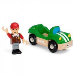 BRIO 33937 Autko sportowe z figurką