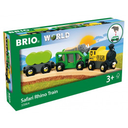 BRIO 33964 - Pociąg Safari z nosorożcem