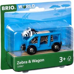 BRIO 33967 - Wagon z zebrą