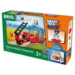 BRIO 33976 SmartTech™ - Tunel alarmowy ze strażą
