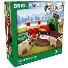 BRIO 33988 Kolejka drewniana Nordic