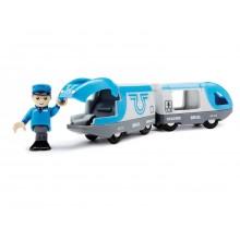 BRIO Lokomotywa na Baterię Niebieska + Maszynista 33506