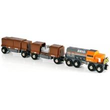 BRIO 33567 Pociąg Towarowy do kolejek drewnianych