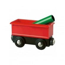 BRIO Wagon z Rurą 33654