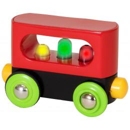 Kolejka Drewniana BRIO - 33708 - Mój pierwszy wagon ze światłami