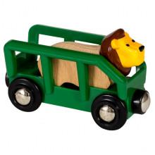 Kolejka Drewniana BRIO - 33966 - Wagon z Lwem