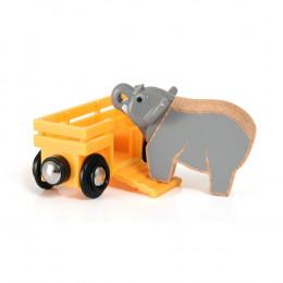 Kolejka Drewniana BRIO - 33969 - Wagon ze Słoniem