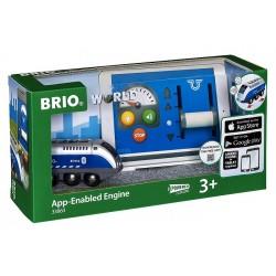 BRIO 33863 Lokomotywa na baterie sterowana aplikacją - Kolejka drewniana