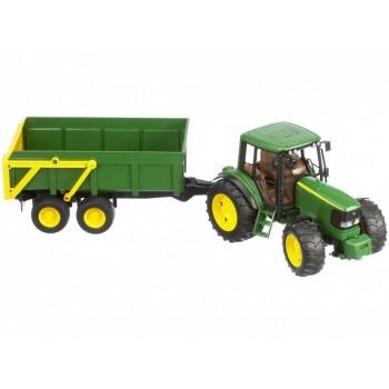 Bruder - Traktor John Deere 6920 z przyczepką - 02058