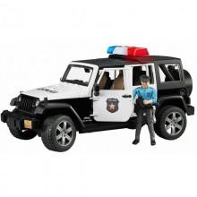 Bruder - Samochód policyjny Jeep Rubicon z syreną - 02526