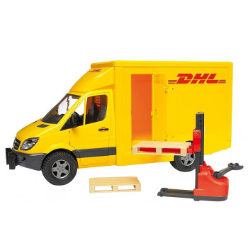 Bruder - MB Sprinter DHL z podnośnikiem - 02534