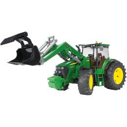 Bruder - Traktor John Deere 7930 z ładowarką - 03051