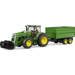 Bruder - Traktor John Deere 7930 z przyczepą - 03055