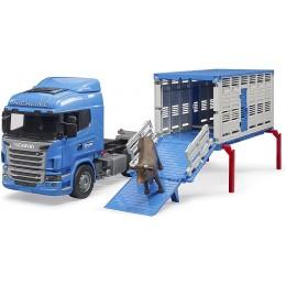 Bruder – Ciężarówka Scania z przyczepą i krową 03549