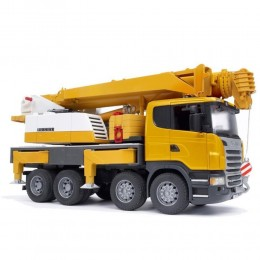 Bruder - Dźwig Scania Liebherr z modułem świetlno - dźwiękowym - 03570