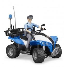 Bruder – Quad z figurką policjanta 63010