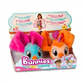Bunnies Friends - Magnetyczne ptaszki - 2szt. - Niebieski i pomarańczowy 97810
