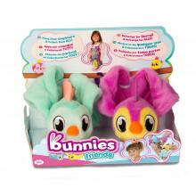 Bunnies Friends - Magnetyczne ptaszki - 2szt. - Miętowy i fioletowy 97827