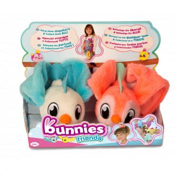 Bunnies Friends - Magnetyczne ptaszki - 2szt. - Biały i neonowy 97834