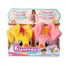 Bunnies Friends - Magnetyczne ptaszki - 2szt. - Różowy i żółty 97841