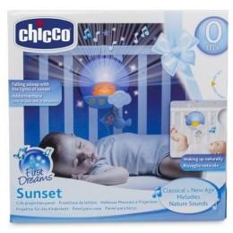 CHICCO 25534 Panel do łóżeczka - Projektor Światła i Dźwięku - niebieski