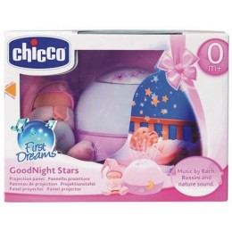 CHICCO 59633 Projektor Gwiazdek Good Night Stars - różowy