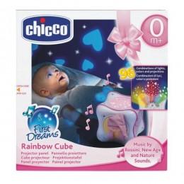CHICCO 59848 Projektor - Tęczowa Kostka Rainbow Cube - różowa