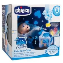 CHICCO 59862 Projektor - Tęczowa Kostka Rainbow Cube - niebieska
