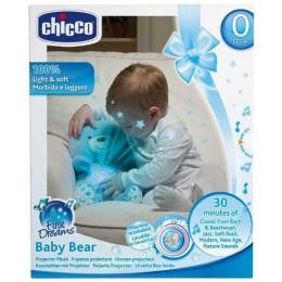 CHICCO 60368 Pluszowy Miś Projektor Baby Bear - niebieski
